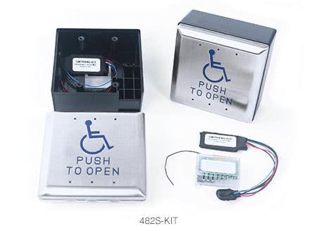 480 Series Wireless Push Plate Switch Kit