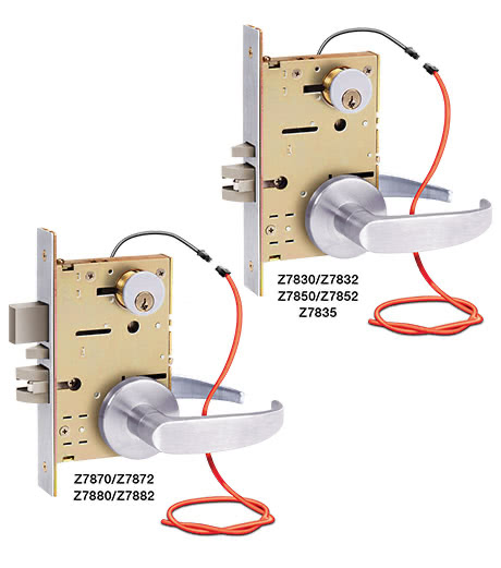 schlage mortise lock template - z7800 series sdc electrified mortise locksets